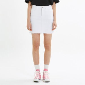[PINK PINEAPPLE] FITTED SKIRT_WHITE