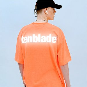 [TENBLADE] Logo reflective T-shirt ver.2-neon-orange