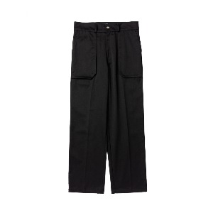 [NONAMENEED] Black patch pocket pants