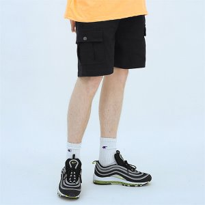 [TENBLADE] Explorer washing cargo short-black