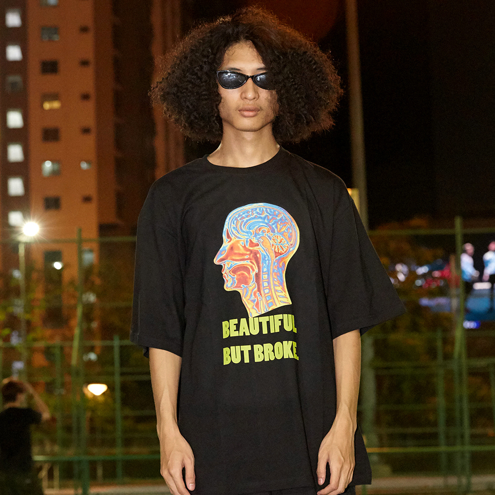 Psychedelic Brain Short Sleeve T-Shirt - BLACK