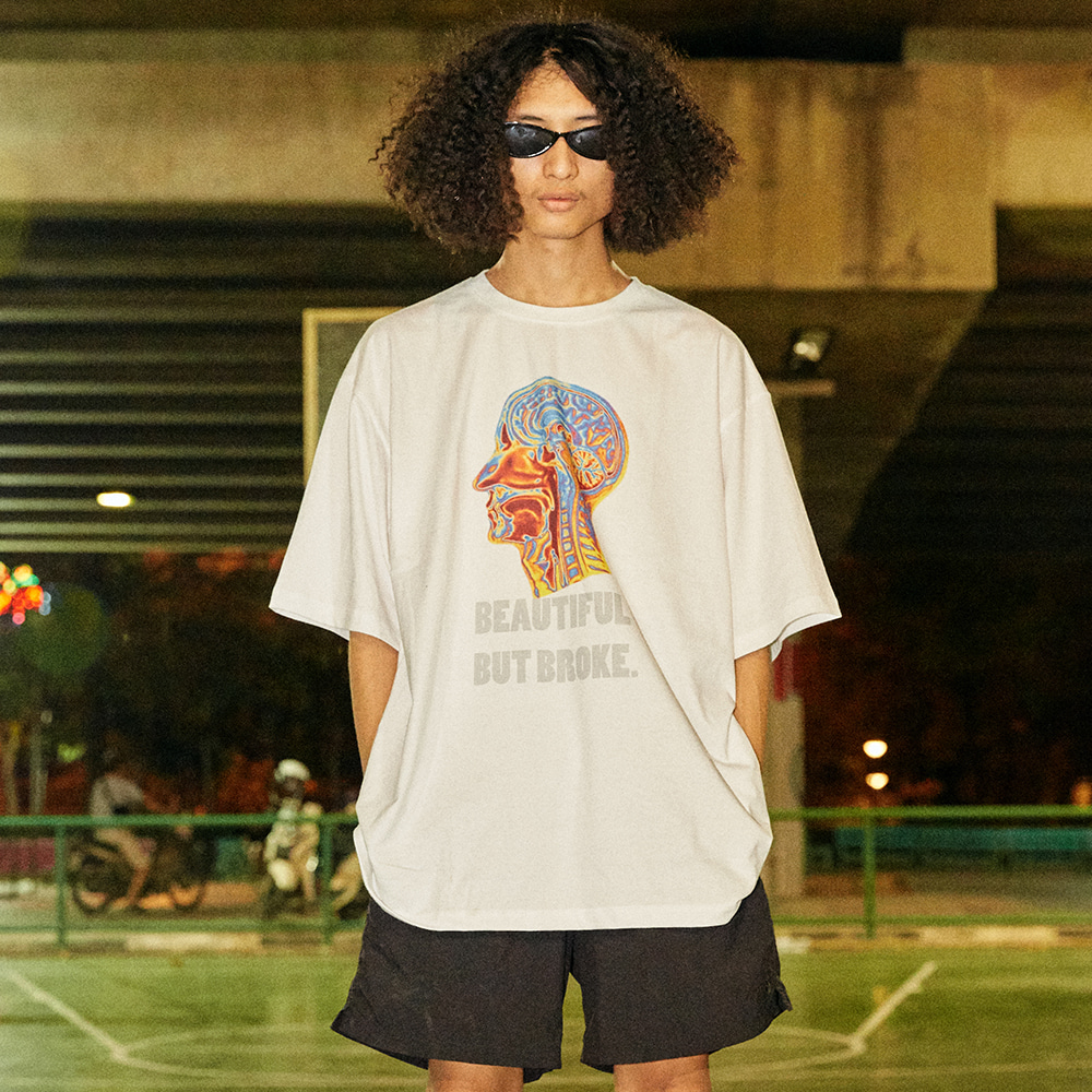 Psychedelic Brain Short Sleeve T-Shirt - WHITE