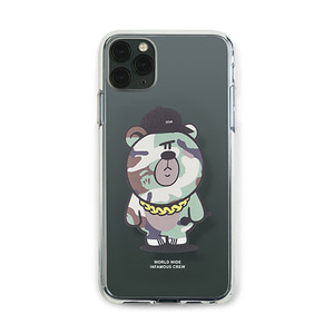 [STIGMA]PHONE CASE CAMOUFLAGE BEAR GREEN CLEAR iPHONE 11 / 11 Pro / 11 Pro Max
