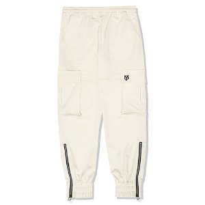 [OY]CARGO JOGGER SLACKS PANTS-CREAM