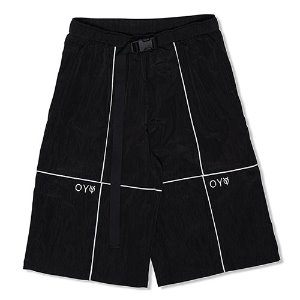 [OY]REFLECTIVE METAL WIDE PANTS-BLACK