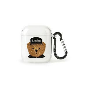 [STIGMA]AirPods CASE COMPTON BEAR - CLEAR