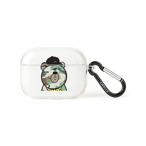[STIGMA]AirPods Pro CASE CAMOUFLAGE BEAR GREEN - CLEAR