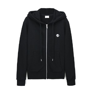 [Rolling Studios] MIRRORBALL EMBROIDERED ROLLING FLOCKED ZIPPED HOODIE BLACK