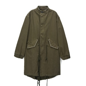 [Rolling Studios] STUDS MODS PARKA IN COTTON TWILL KHAKI