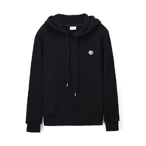 [Rolling Studios]  MIRRORBALL EMBROIDERED ROLLING FLOCKED CLASSIC HOODIE BLACK