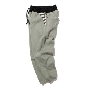 [KRUCHI] Pigment cotton easy pants (Olive Green)