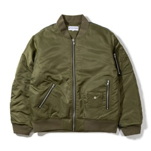 [KING] Quilted MA-1 Flight Jacket -Khaki