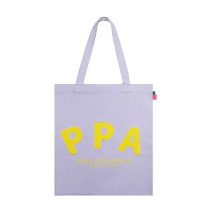 [PINK PINEAPPLE] INITIAL LOGO ECO BAG_VIOLET