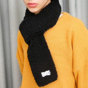 [라모드치프] FLEECE SHOT MUFFLER (BLACK)