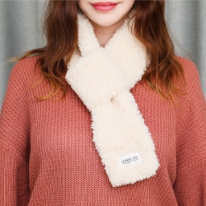 [라모드치프] FLEECE SHOT MUFFLER (IVORY)
