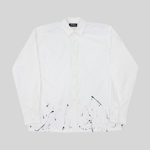[RUNDS] painting oversize shirt (white)