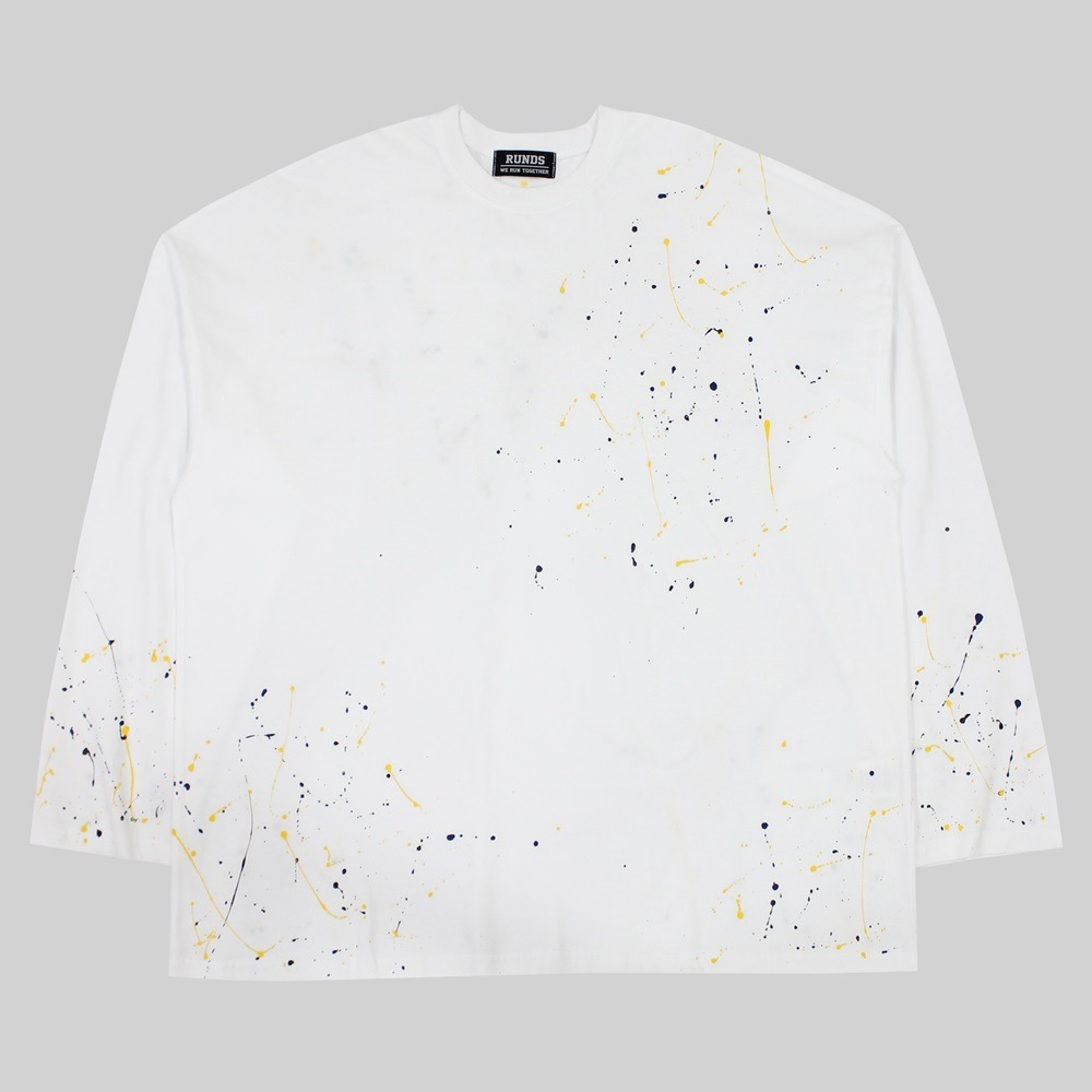 [RUNDS] painting oversize long sleeve (white)