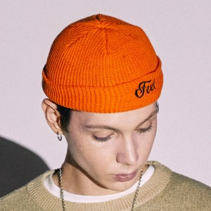 [FEELENUFF] LOGO BEANIE / ORANGE