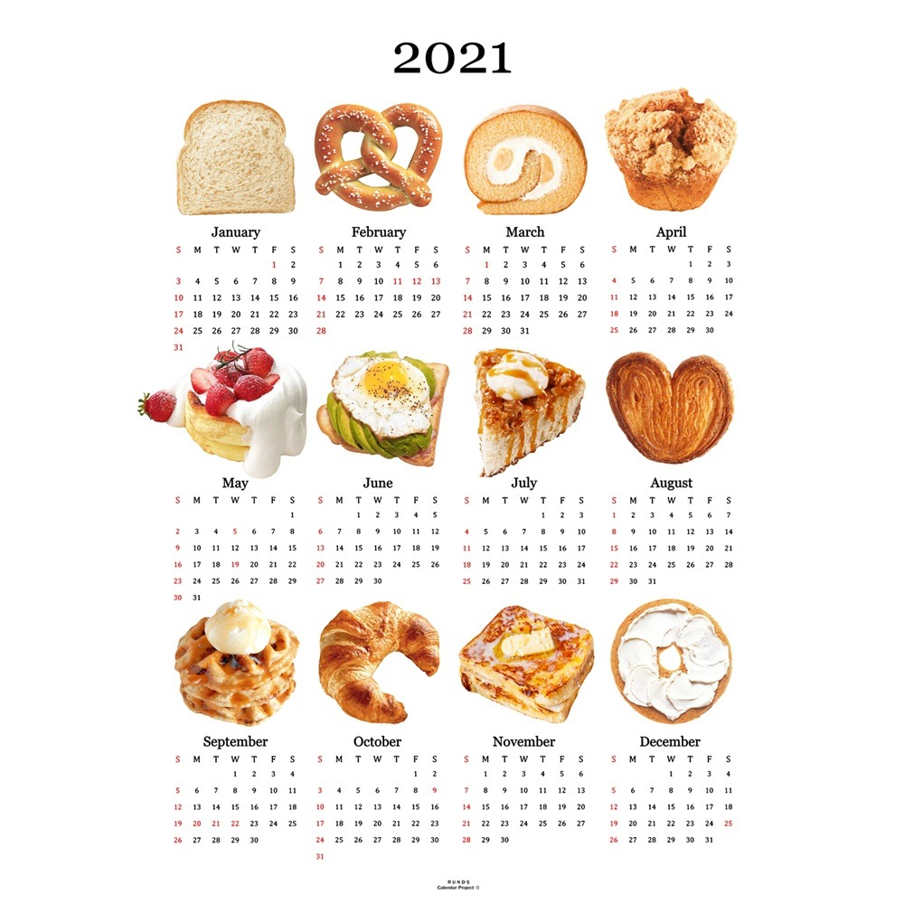 [런디에스] 2021 bread canvas calendar (2size)