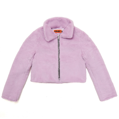 [FRAY] FLEECE FUR JACKET - PURPLE