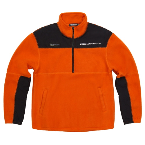 [Fresh anti youth] CUT FLEECE JACKET - ORANGE