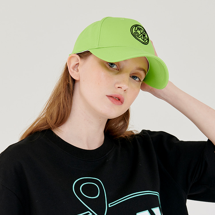 CIRCLE LOGO BALL CAP - NEON
