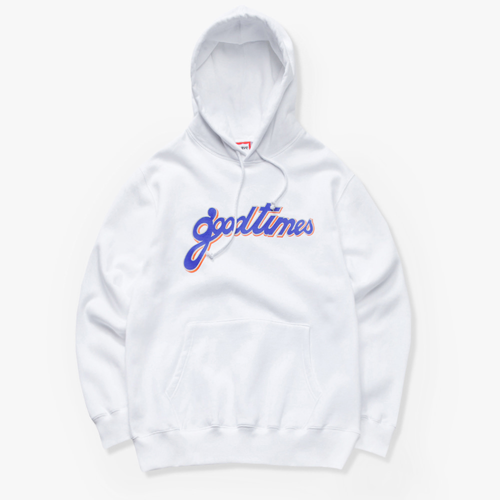 [have a good time] GOOD TIMES PULLOVER HOODIE - White