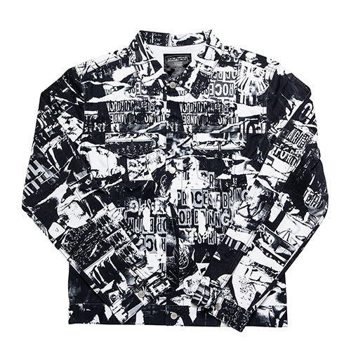 TORN PICTURES ALL PRINT TRUCKER JACKET - O/C