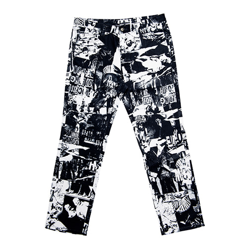 [아임낫어휴먼비잉] TORN PICTURES ALL PRINT PANTS - O/C