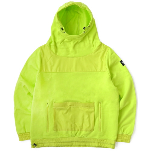 [TRAVS] FACE MASK HOODIE - NEON GREEN
