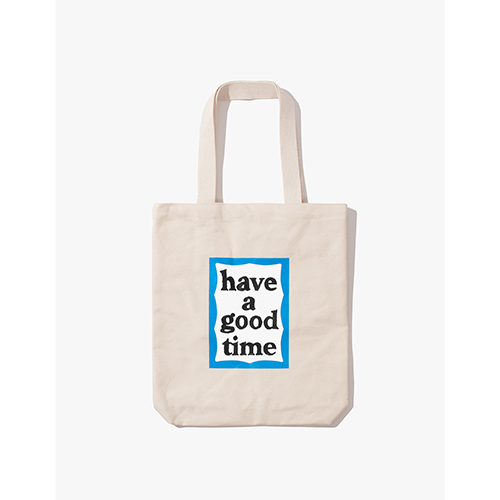 [Have a good time] BLUE FRAME TOTE - NATURAL