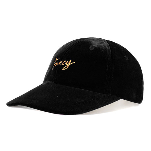 [NSTK] VELVET FANCY CAP BLACK (NF18A086H)
