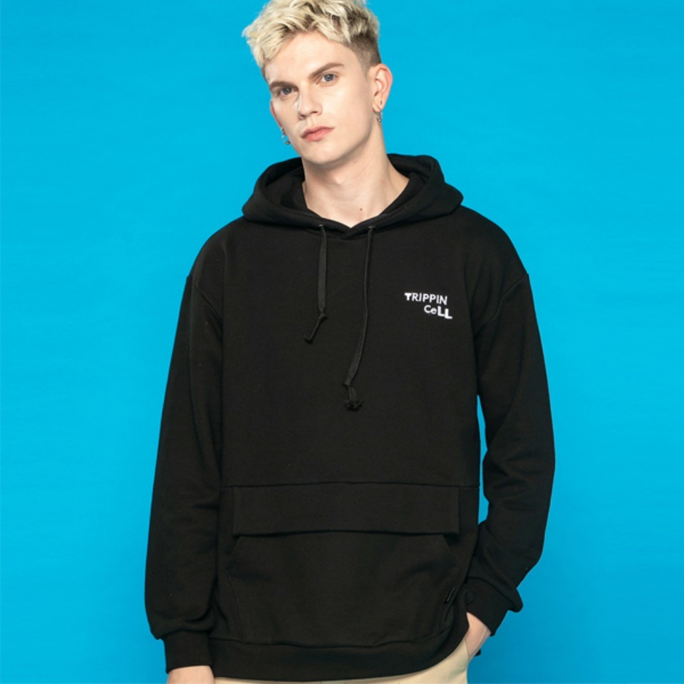 [Trippin CeLL] A-rock Hoodie (black)