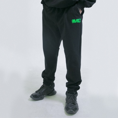 [OBJECT] UNOFFICIAL INTELLIGENCE SWEATPANTS - BLACK