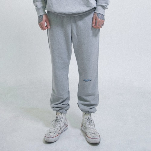 [OBJECT] HYPERLINKING SWEATPANTS - GRAY