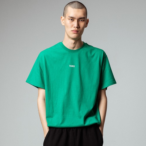 [OBJECT] THINGS T-SHIRT - GREEN