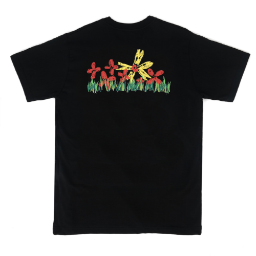 [Do'LM]Crapas Flowers T-Shirts Black