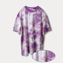 [OBJECT] TIE DYE REVERSIBLE OVERSIZED T-SHIRT - PURPLE
